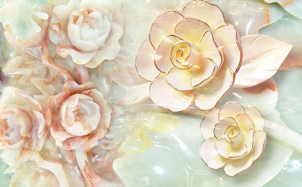 фото обои 3д цветы
