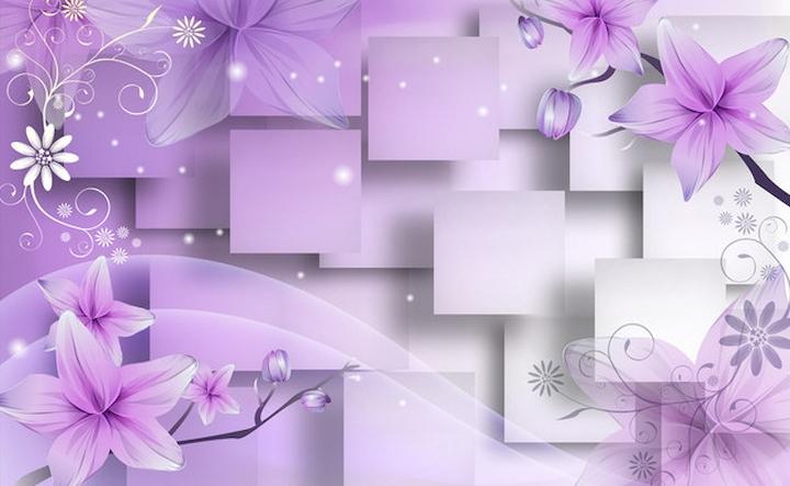 фото обои 3д на стены цветы